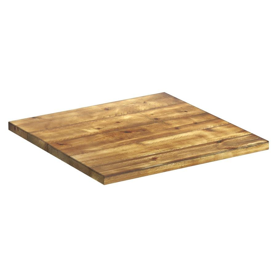 Runic Aged Solid Wood Table Top - 800x800x32mm