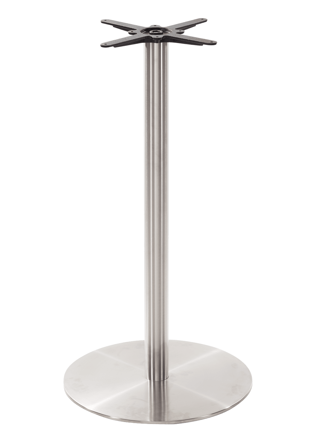 Round stainless steel table base - Large - Poseur height - 1050 mm