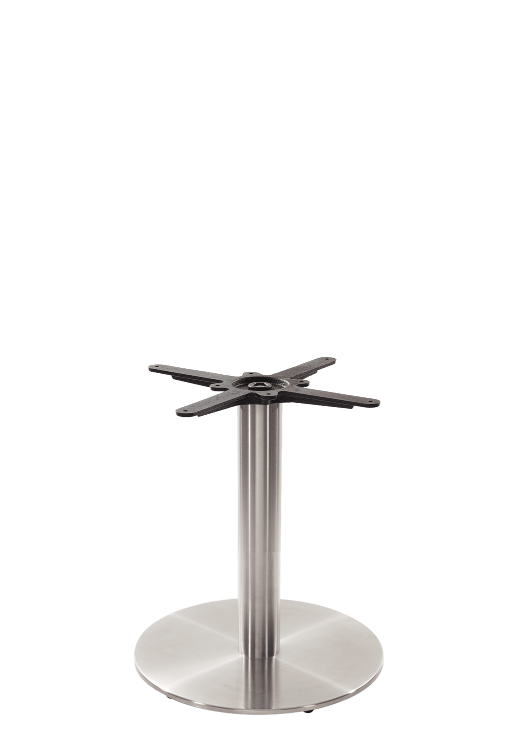 Round stainless steel table base - Medium - Coffee height - 480 mm