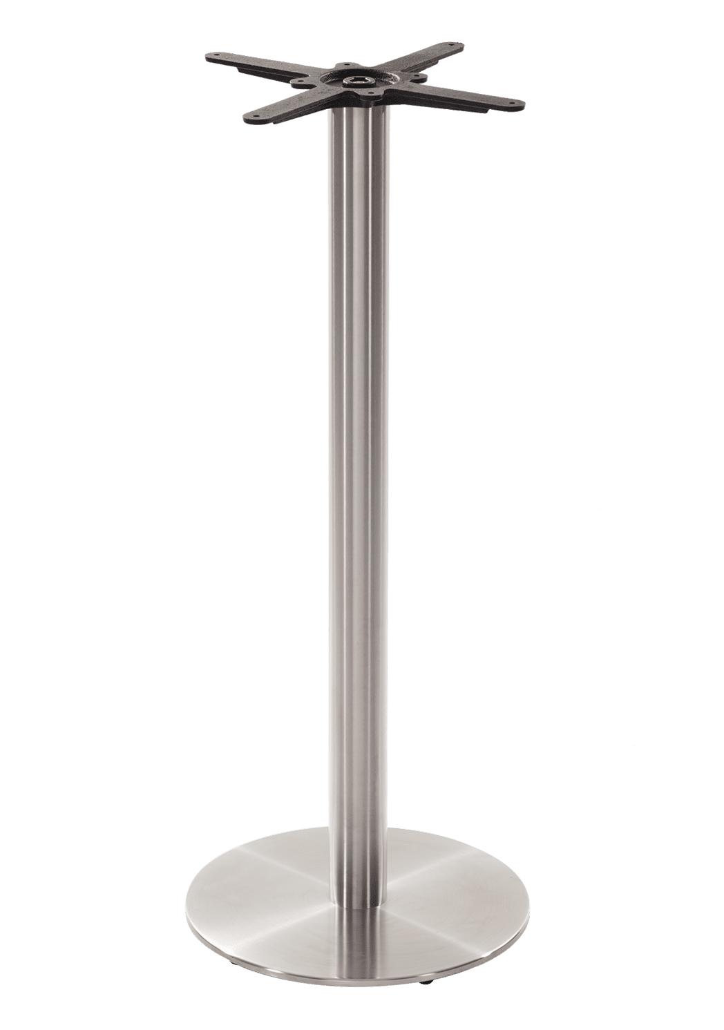 Round stainless steel table base - Medium - Poseur height - 1050 mm
