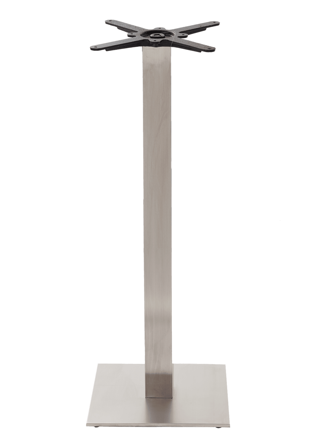 Square stainless steel table base - Medium - Poseur height - 1050 mm