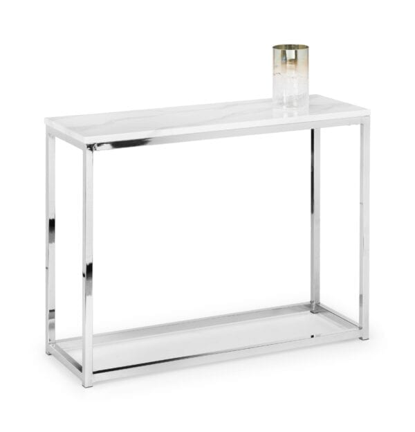 Visco Console Table - White Marble