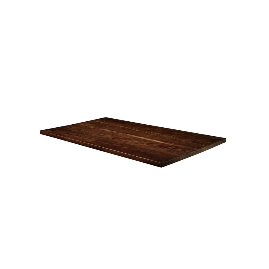 Whimsey Solid Ash Table Top - Dark Walnut - 120cm x 70cm (Rect)