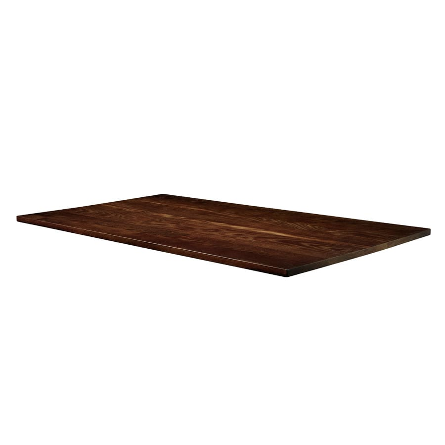Whimsey Solid Ash Table Top - Dark Walnut - 180cm x 70cm (Rect)