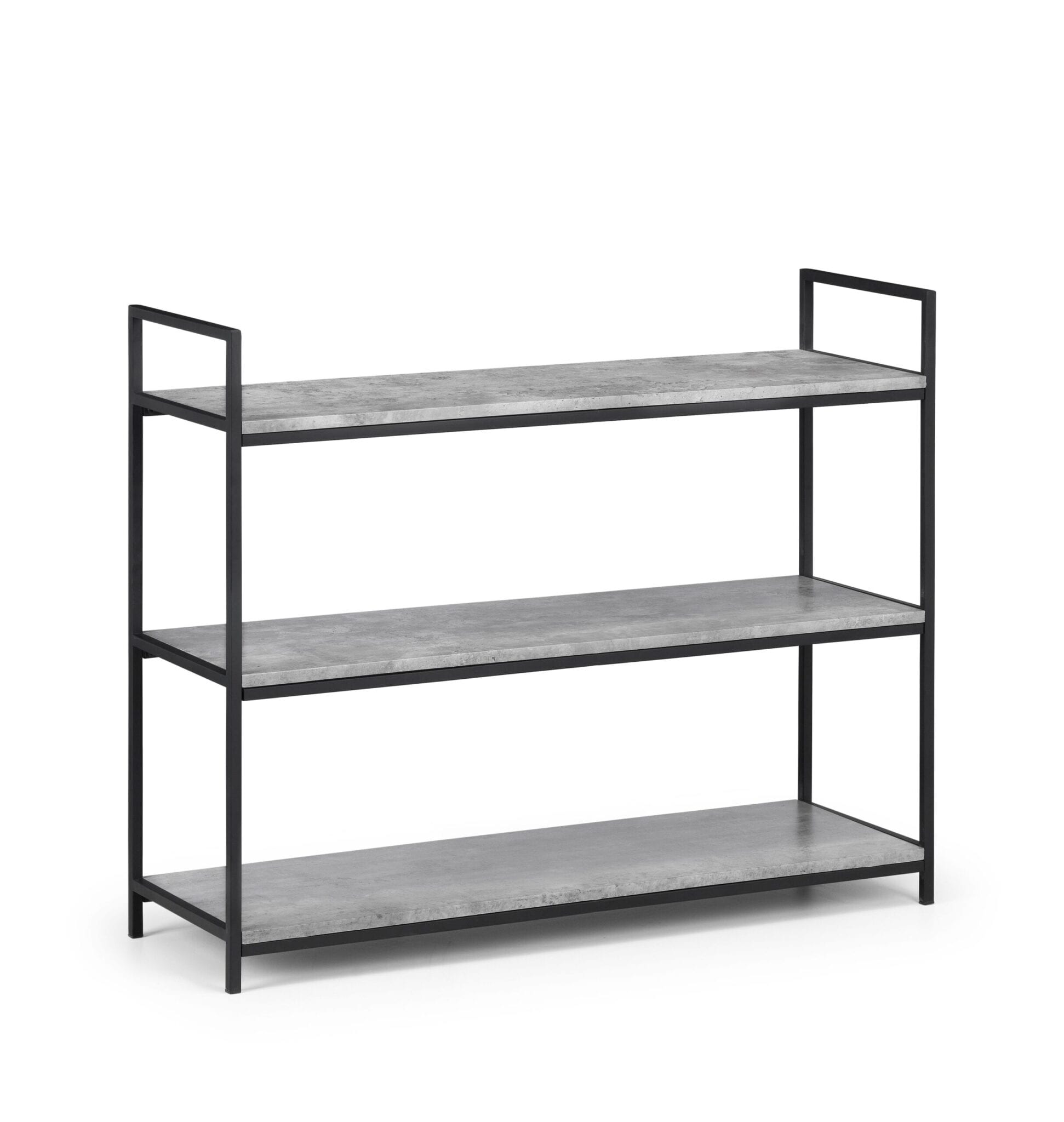 Oyster Low Concrete Bookcase