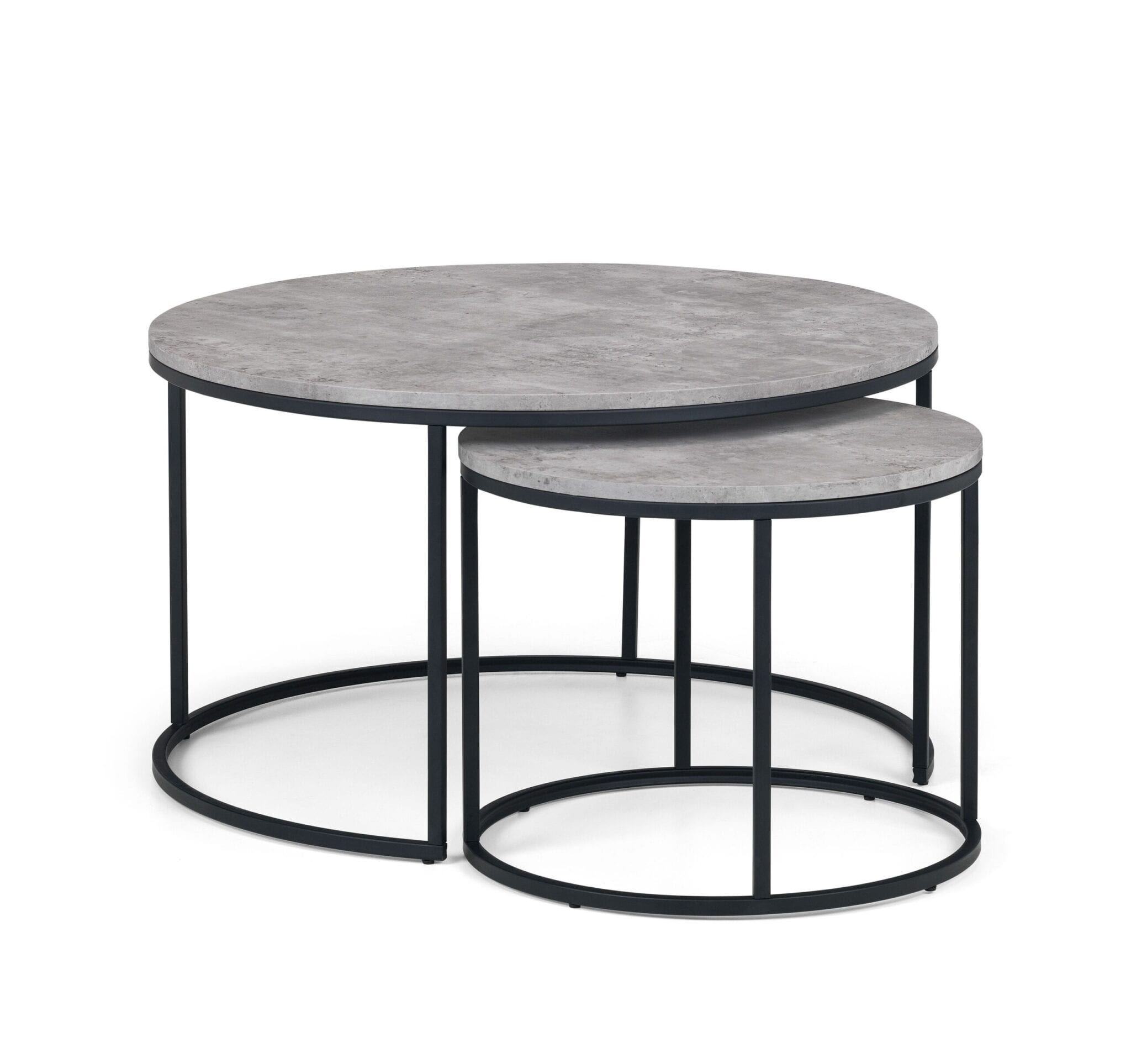 Oyster Concrete Round Nesting Coffee Table