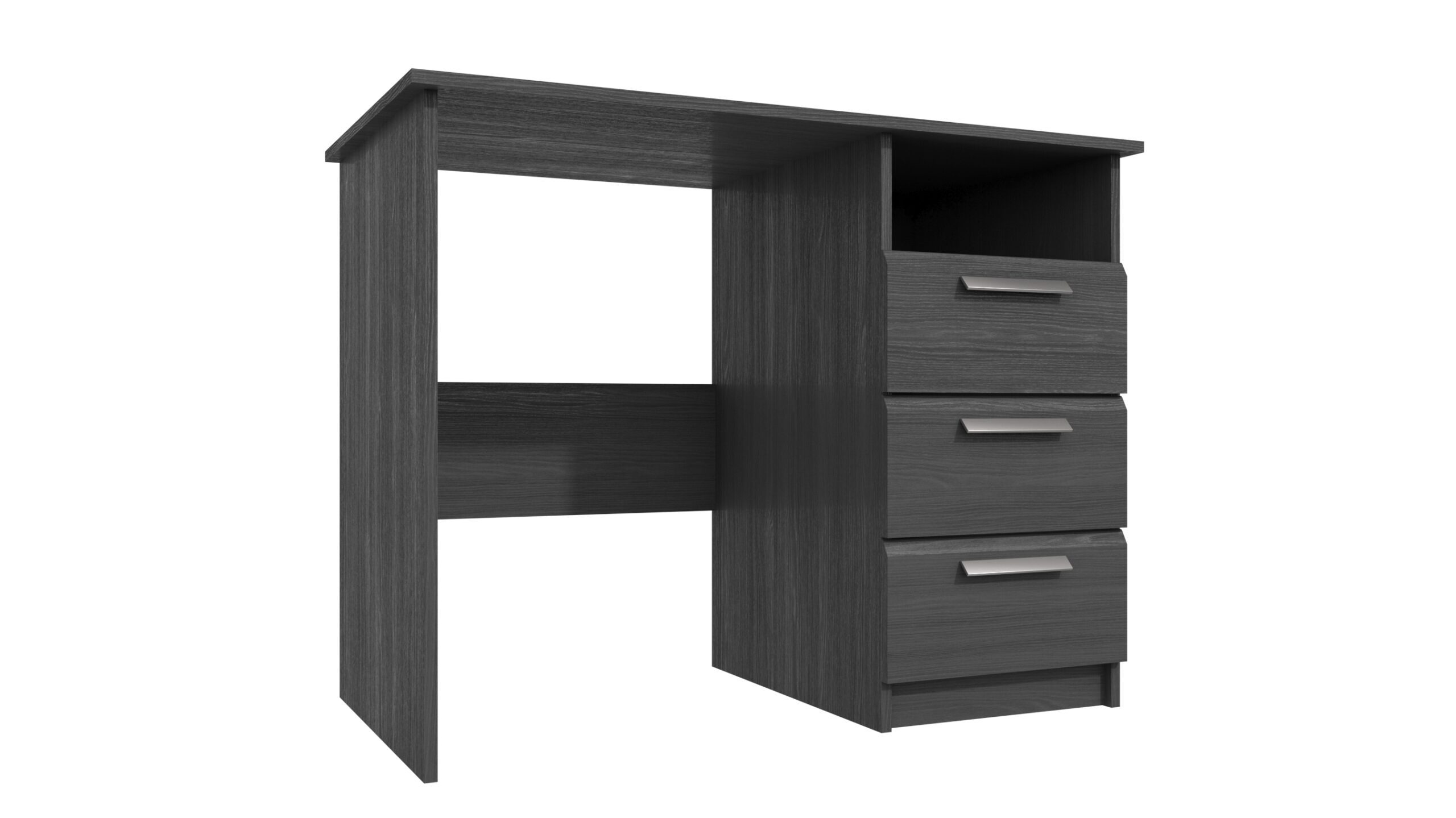 Wister Three Draw Dressing Table - Graphite