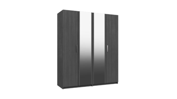 Wister Four Door Mirror Wardrobe - Graphite