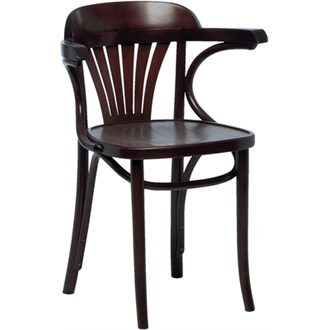 Apony Quality Walnut Wood Arm Kitchen Dining Chair Fully Assembled