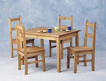 Tosan Mexican Pine Compact Table 4 Chairs