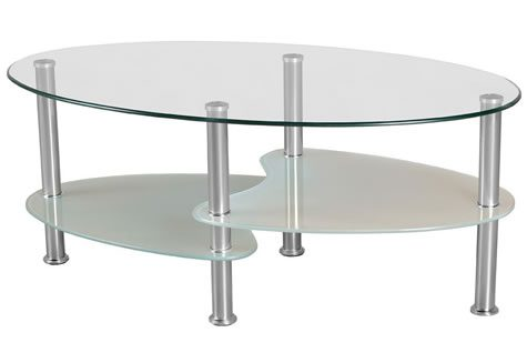 Carmel Clear Frosted Glass Coffee Table