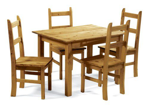 Mockton Pine Table And 4 Chairs