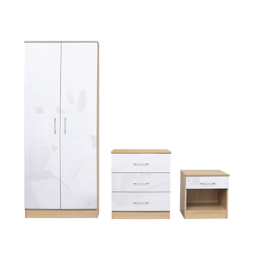 Darcy Bedroom Set White - Cupboard