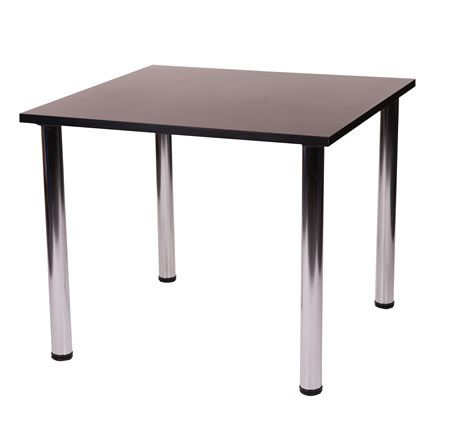 Fabian Square Small Or Large Table 4 Chrome Legs
