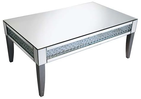Rumba Sophisticated Mirror Glass Coffee Table Glass Crystal DeCorisation