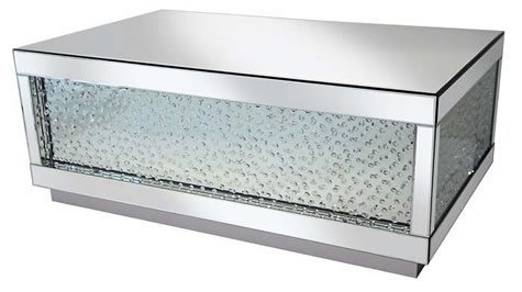 Rumba Sophisticated Mirror Glass Large Coffee Table Glass Crystal DeCorisation