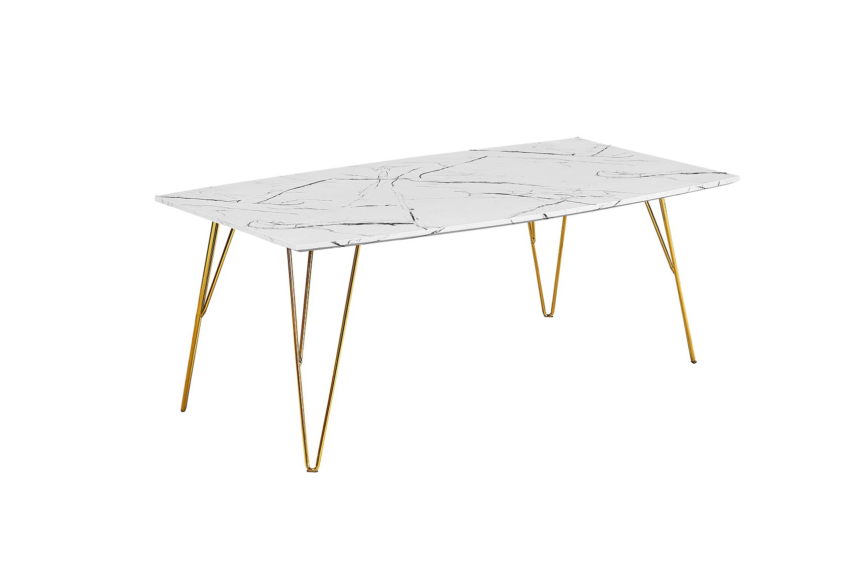Foller Coffee Table White Marble