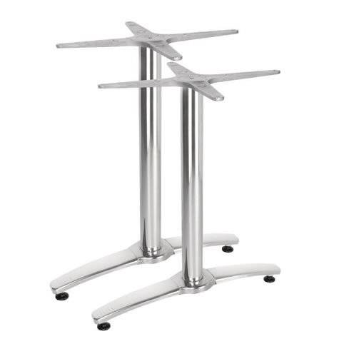 Alome Aluminium Twin Leg Dining Kitchen Table Base Commercial Quality