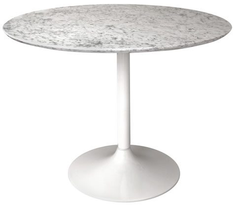 Gensifer White Table Base Marble Or Granite Top Table Base Only