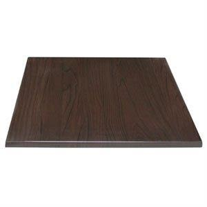 Monero 70Cm Dark Brown Square Kitchen And Dining Table Top Commercial Quality