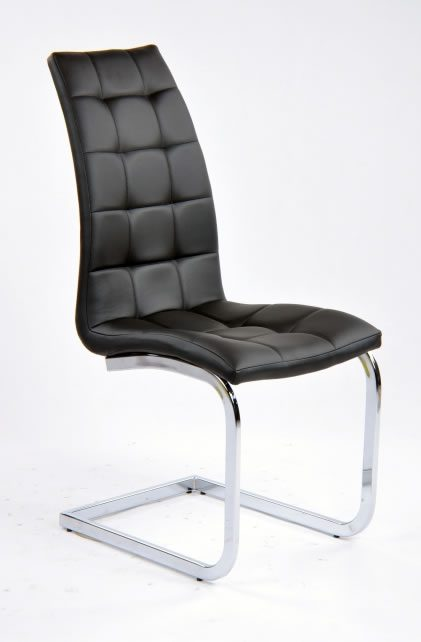 Geo Dining Kitchen High Back Padded Chair Black Or White