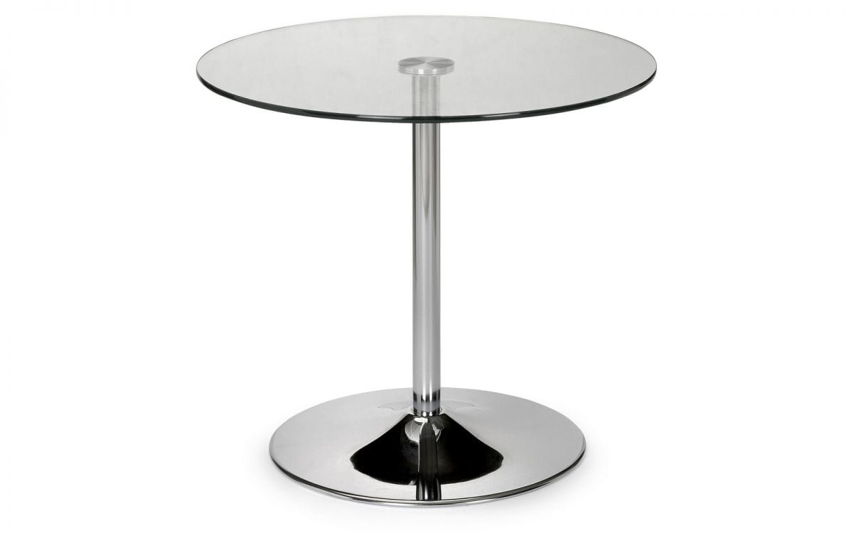 Hartley Glass Table Round Clear Top