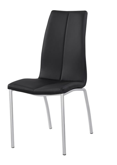 Nirvana Kitchen Dining Chair Padded Faux Leather And Chrome