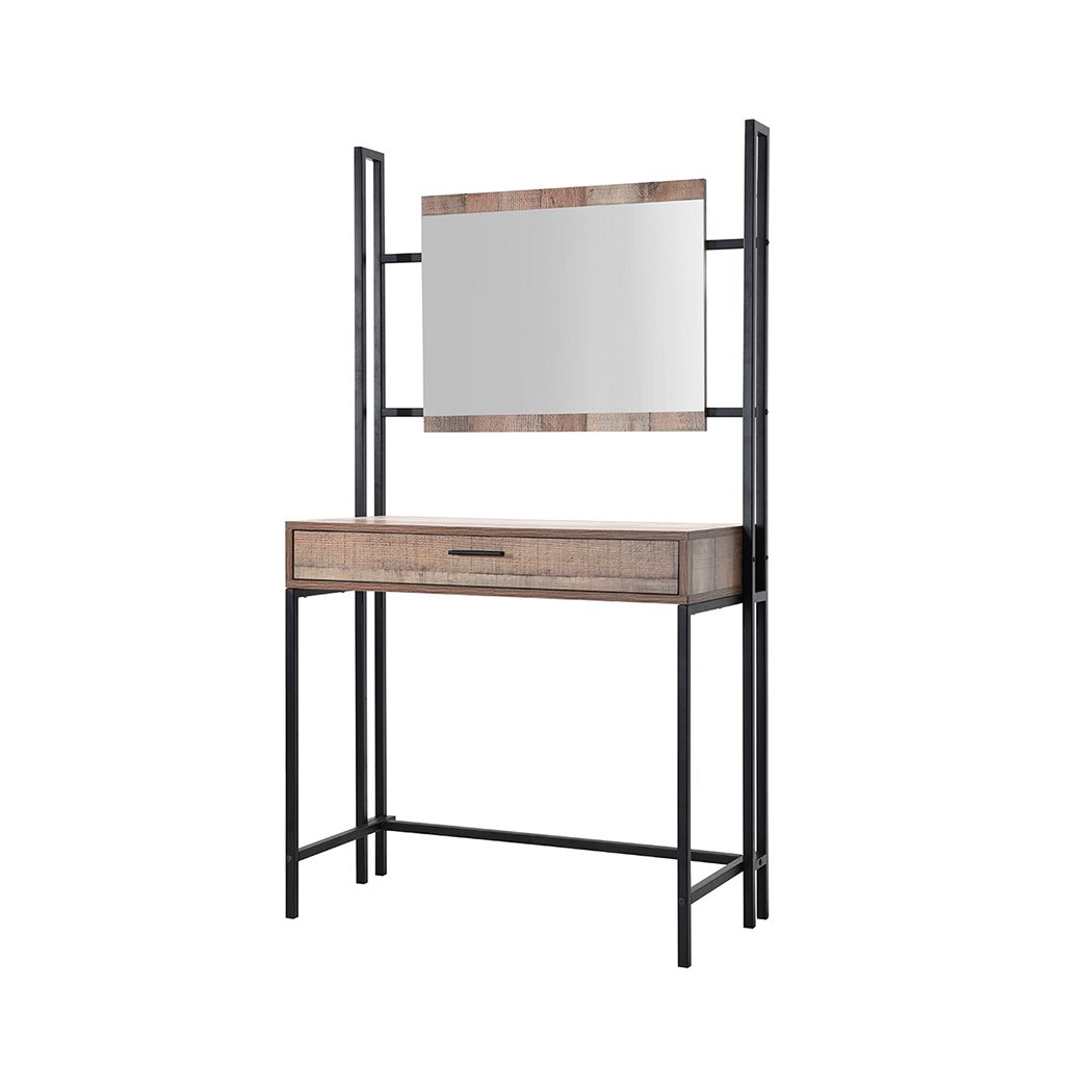 Hector Dressing Table and Mirror Distressed Oak Effect