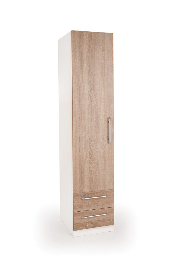 Eitan Quality Bedroom Single Combi Wardrobe - Variety Of Colours
