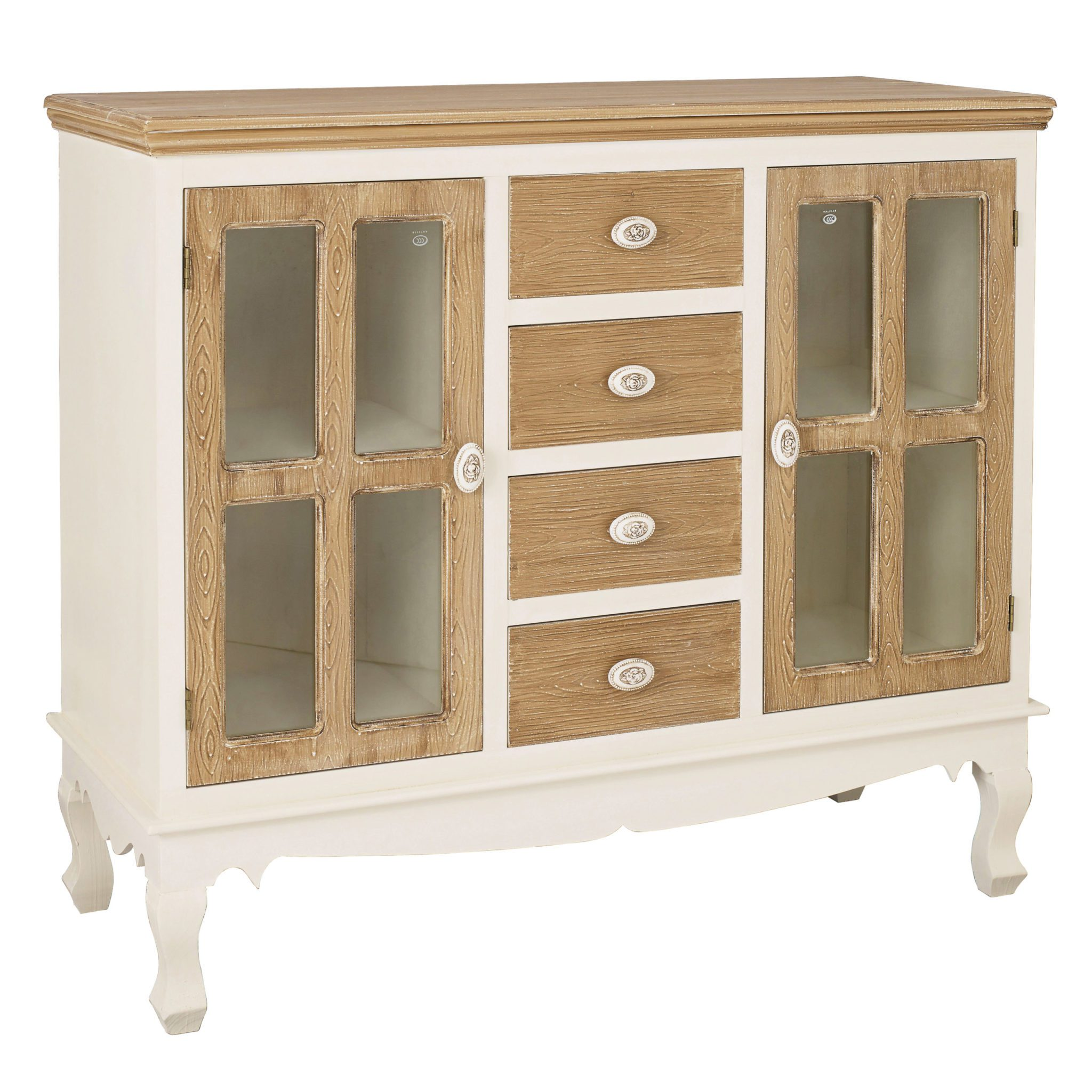 Jewel Sideboard With Glass Cream