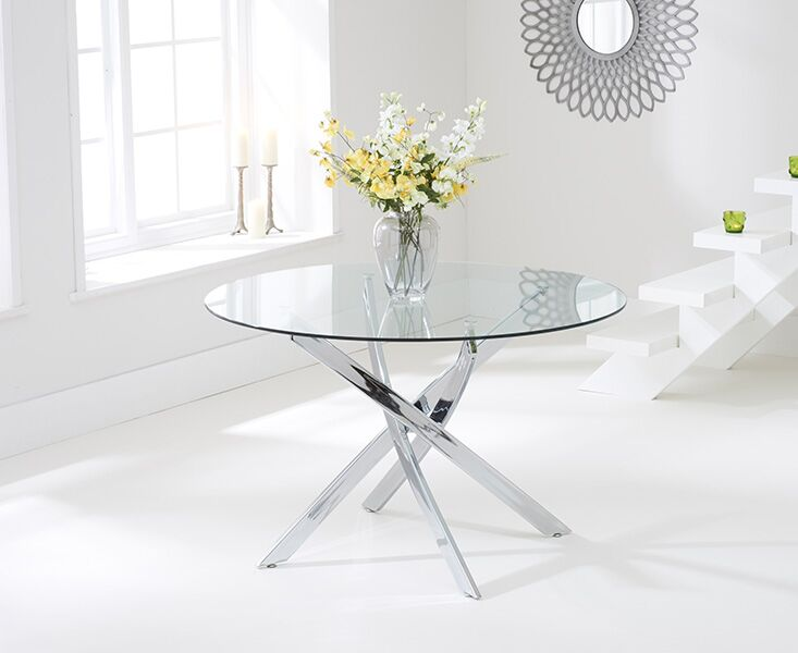 Dieter Large Clear Glass Round Table