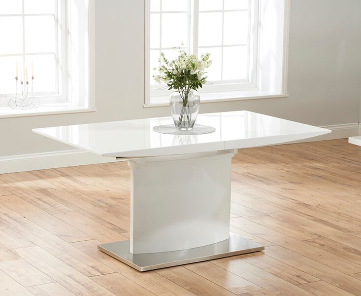 Helix Large Extending White High Gloss Table