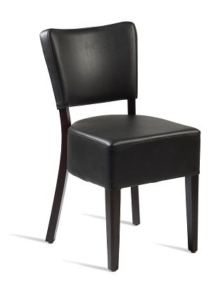 Dorit Solid Beach Side Chair Faux Leather