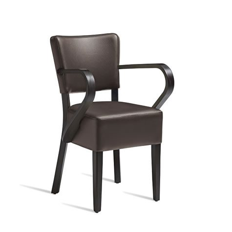 Dorit Solid Beach Arm Chair Faux Leather -