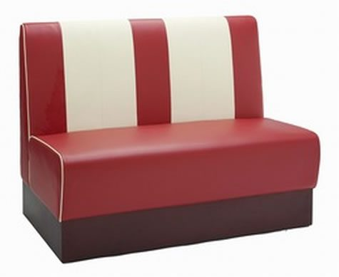 New Orleans Bench - Classic Red Cream Chair
