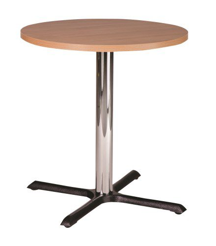 Elliot Chrome Coffee Table Base Round Solid Wood Top