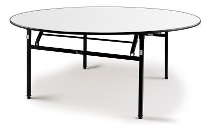 Pastire Large Round Soft Top Folding Table - 6Ft (183M) -
