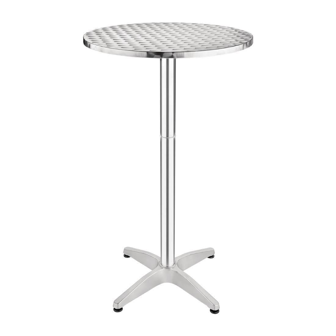 Krisco Tall Poseur Table Stainless Steel 105 Cm High Indoor Outdoor Table