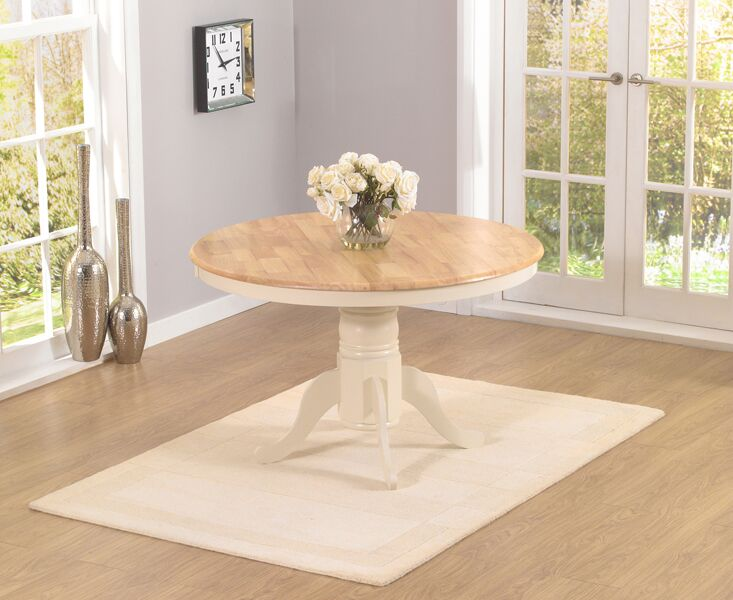 Woodie Solid Hardwood & Painted 120cm Kitchen Dining Table