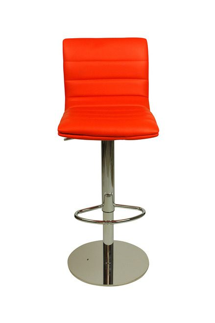 Alpino Breakfast Bar Stool Weighted Base Height Adjustable - Red