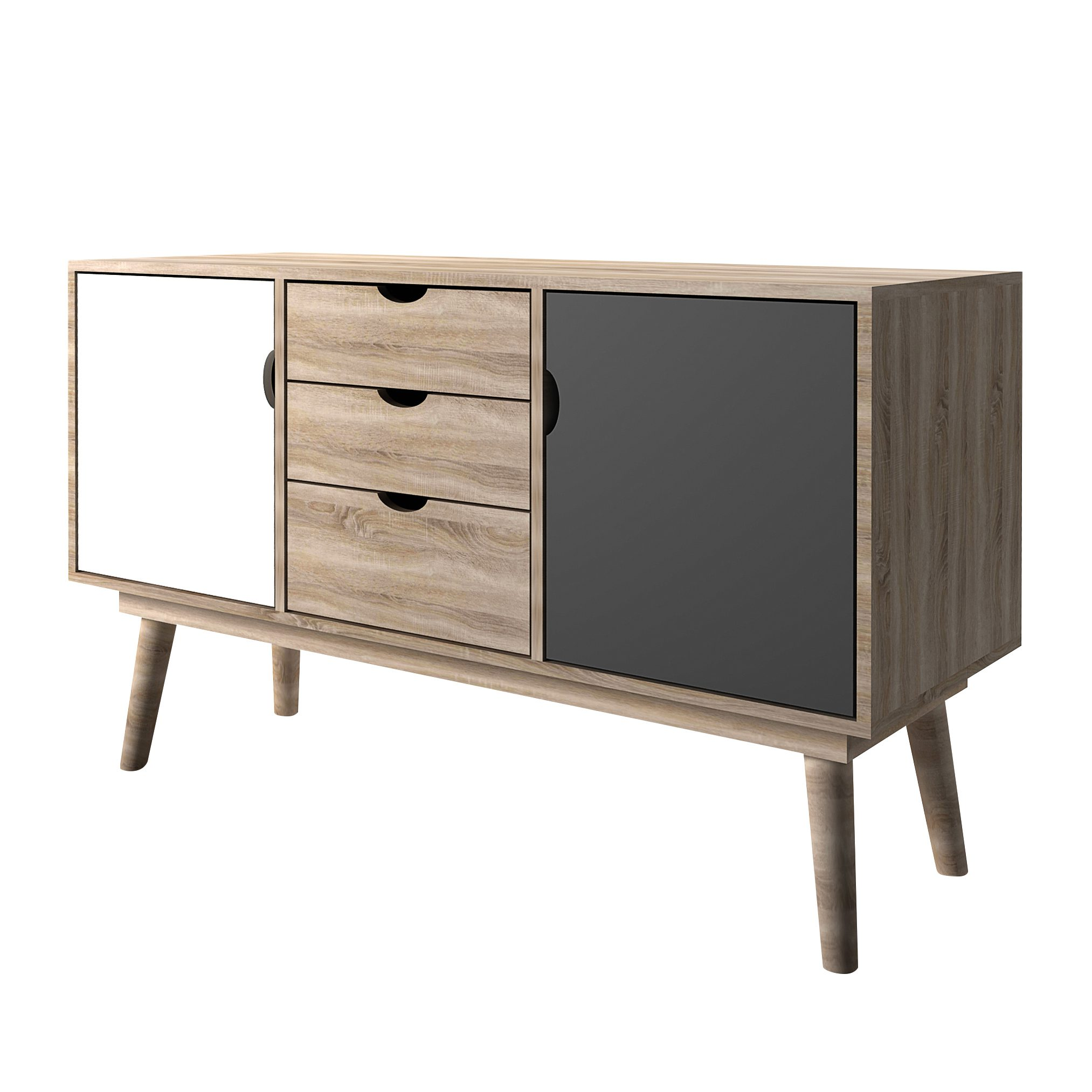 Secily Oak 2 Door Sideboard Grey