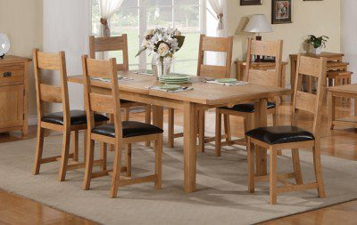 Starry Oak Table 6 Chairs - Extending