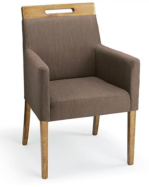 Modosi Fabric And Wood Dining Chair Brown