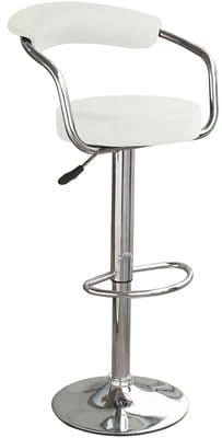 Drenzy White Bar Stool Arms Height Adjustable